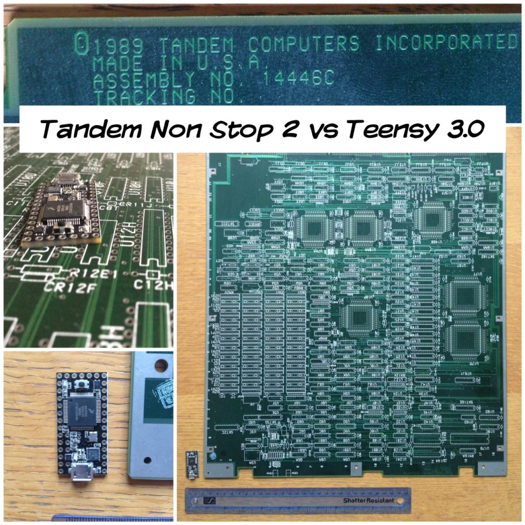 Teensy 3 compared to Tandem Non Stop 2 Mainframe